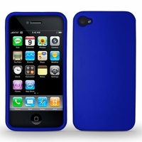 Rubber Protector Case for Apple iPhone 4 / 4s - Blue