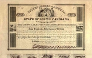 Louisville Cincinnati & Charleston RR Bond 1838