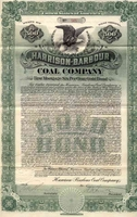 Harrison-Barbour Coal Co Bond 1909