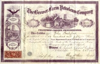 Brewer Farm Petroleum Co Stock 1865