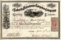 Roberts Petroleum Torpedo Co Stock 1865
