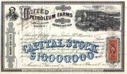 United Petroleum Farms Association Stock 1870