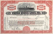 United States Lines Co Stock 1931