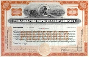 Philadelphia Rapid Transit Co Stock 1926