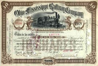 Ohio & Mississippi RW Stock 1892