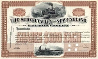 Scioto Valley & New England RR Stock 18__