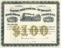 Vernon Greensberg & Rushville RR Stock 188_