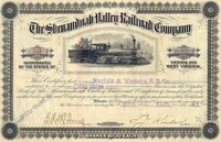 Shenandoah Valley RR Stock 1883