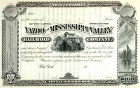 Yazoo & Mississippi Valley RR Stock 18__