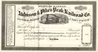 Atchison & Pikes Peak RR Stock 186_
