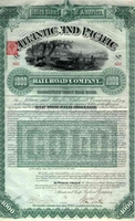 Atlantic & Pacific RR Bond 1887
