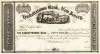 Hackettstown Bank, New Jersey Stock 185_