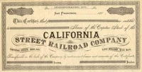 California Street RR Stock 188_