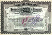 Washington Railway & Electric Stock 1905