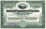 American Telephone & Telegraph Stock 1930s