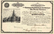 German Evangelical Lutheran St Peter Church Stock 1905