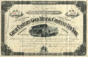 Great Eastern Gold Mining Stock 1887
