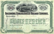 Baltimore Consolidated RW Stock 1898