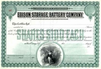 Edison Storage Battery Co Stock 19__