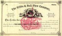 Gibbs & Ball Plow Co Stock 18__