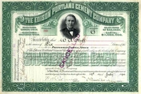 Edison Portland Cement Co Stock 1901