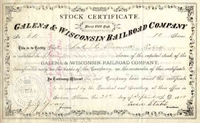 Galena & Wisconsin RR Stock 1879