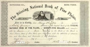 Stissing National Bank of Pine Plains Stock 1898