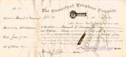 Connecticut Telephone Stock 1881 - predecessor to ATT, signed by Marshall Jewell