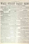 Wall Street Daily News 1881