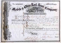 Mobile & Ohio RR Stock 1862