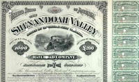 Shenandoah Valley RR Bond 1879