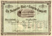 Submarine Boat & Torpedo Co Stock 1889