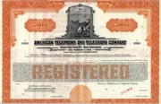 American Telephone & Telegraph Co Specimen Bond 1930