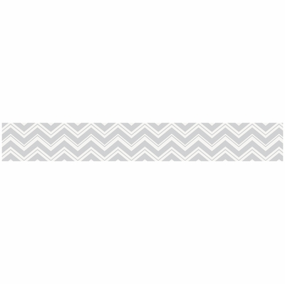 Zig Zag Wallpaper Border For Yellow And Gray Bedding