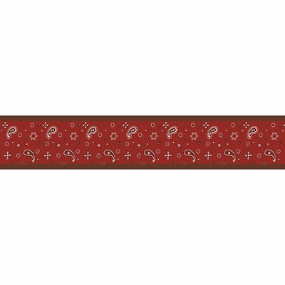 Wild West Cowboy Wallpaper Border Bandana Print