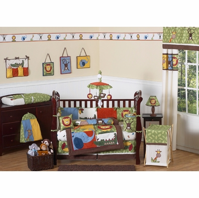 Jungle Time Crib Bedding Collection