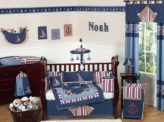 nautical themed nursery bedding 1