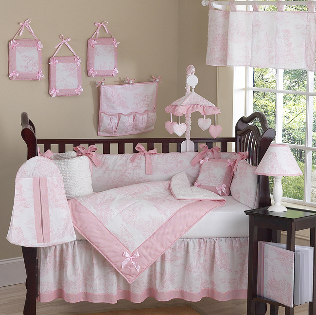 Pink Butterfly Crib Bedding Set