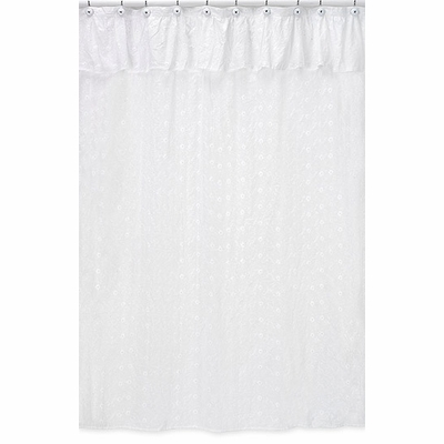 White Eyelet Shower Curtain White Grey Shower Curtain
