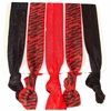 Hair Ties Red Zebra
