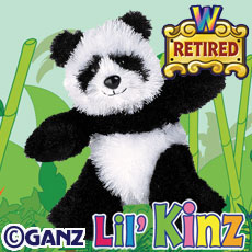 HS111 LIL KINZ PANDA (RETIRED) WebKinz UNUSED CODE ONLY - NO PLUSH - Delivered By Email