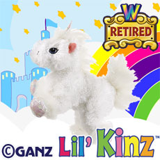 HS069 LIL KINZ UNICORN (RETIRED) WebKinz UNUSED CODE ONLY - NO PLUSH - Delivered By Email