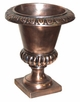 "Copper Glass - Small Smooth Urn 11 1/2"" - Regular Copper Finish"