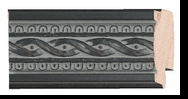 Custom Picture Frame Style #2078 - Ornate - Black Finish
