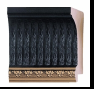 Custom Picture Frame Style #2087 - Ornate - Black Finish