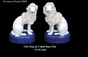 Jeanne Reed's - Dog Pair on Cobalt Bases
