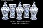 Jeanne Reed's - Garniture Set of 5 - Blue & White