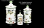 "Jeanne Reed's - 3 pc Canister Set ""English Botanical"""