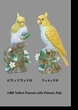 Jeanne Reed's - Yellow Parrots w/flowers Pair