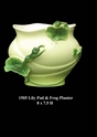 Jeanne Reed's - Lily Pad & Frog Planter